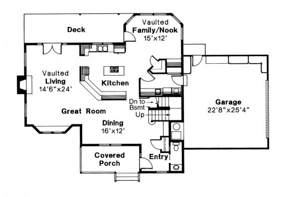 Country House Plan - Olympia 10-210 - 1st Floor Plan