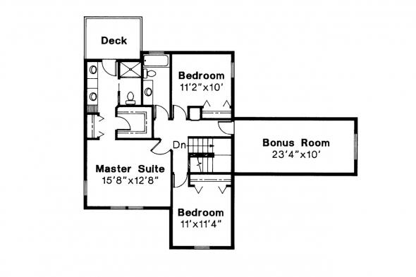 Country House Plan - Olympia 10-210 - 2nd Floor Plan