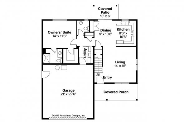 Country House Plan - Paisley 30-852 - 1st Floor Plan