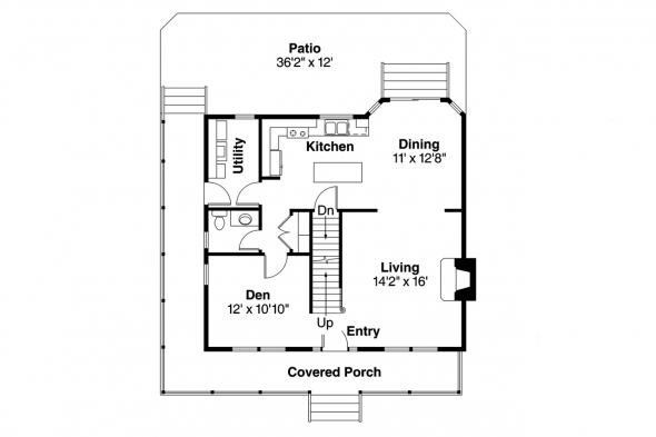 Country House Plan - Pine Hill 30-791 - 1st Floor Plan