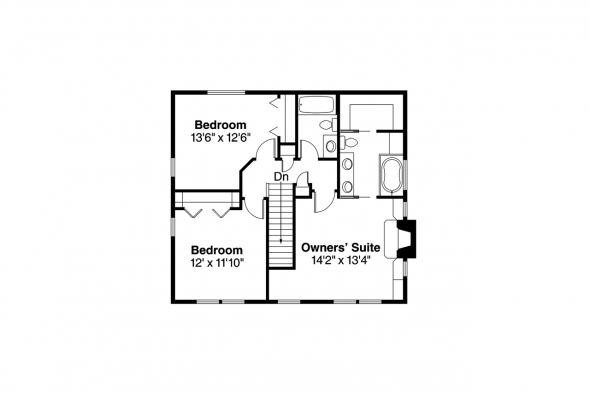 Country House Plan - Pine Hill 30-791 - 2nd Floor Plan