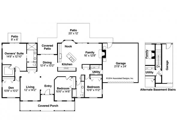 Country House Plan - Redmond 30-226 - Floor Plan