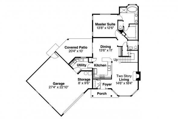 Country House Plan - Shaffer 30-453 - 1st Floor Plan