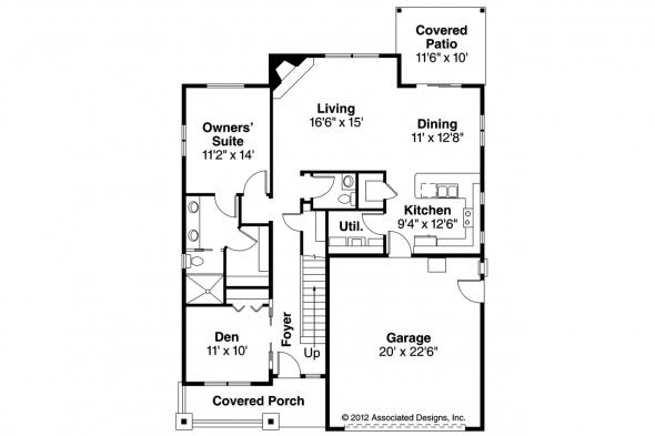 Country House Plan - Shasta 30-866 - 1st Floor Plan