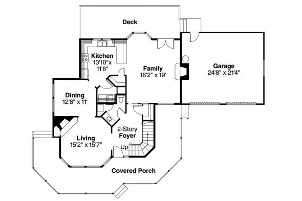 Country House Plan - Thompson 10-018 - 1st Floor Plan