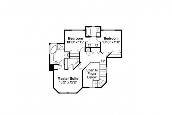 Country House Plan - Thompson 10-018 - 2nd Floor Plan
