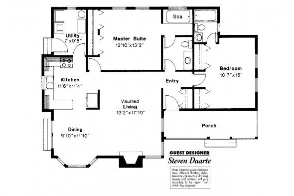 Country House Plan - Windham 41-003 - Floor Plan