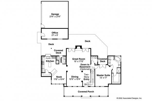 Country House Plan - Wyndmere 30-038 - 1st Floor Plan