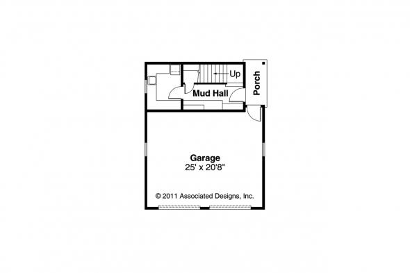 Craftsman Home Plan - Mapleton 30-506 - Garage Plan