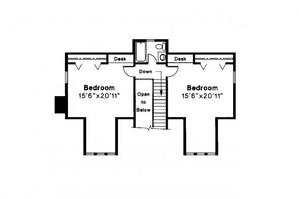 Craftsman House Plan - Alhambra 41-001 - 2nd Floor Plan