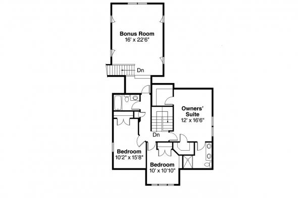 Craftsman House Plan - Ambridge 10-323 - 2nd Floor Plan
