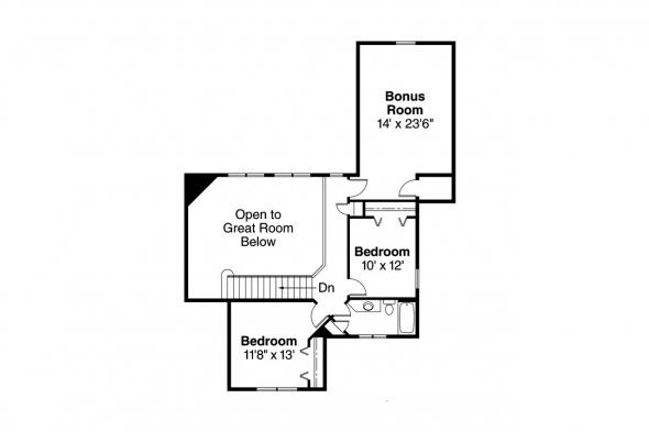 Craftsman House Plan - Awbery 30-551 - 2nd Floor Plan