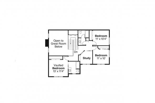 Craftsman House Plan - Belknap 30-771 - 2nd Floor Plan