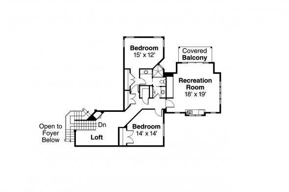 Craftsman House Plan - Bethany 30-272 - 2nd Floor Plan