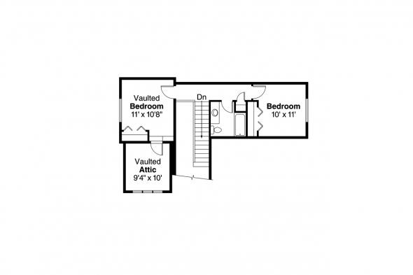 Craftsman House Plan - Cedar Ridge 30-855 - 2nd Floor Plan