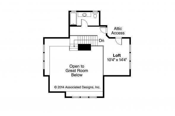 Craftsman House Plan - Cedar View 50-012 - Second Floor Plan