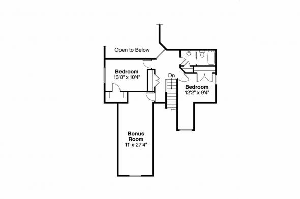 Craftsman House Plan - Eastham 30-622 - 2nd Floor Plan