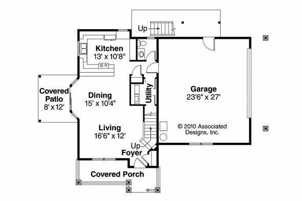 Craftsman House Plan - Elmdale 30-598 - 1st Floor Plan