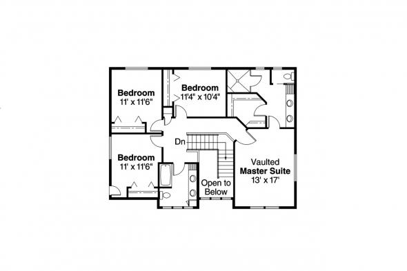 Craftsman House Plan - Garrison 30-414 - 2nd Floor Plan