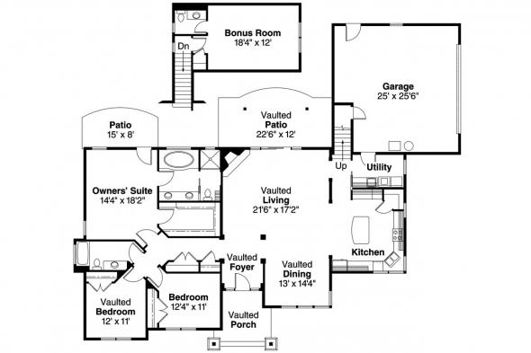 Craftsman House Plan - Inglewood 30-538 - Floor Plan