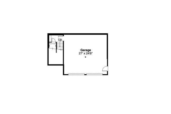 Craftsman House Plan - Kelseyville 30-476 - Garage Floor Plan