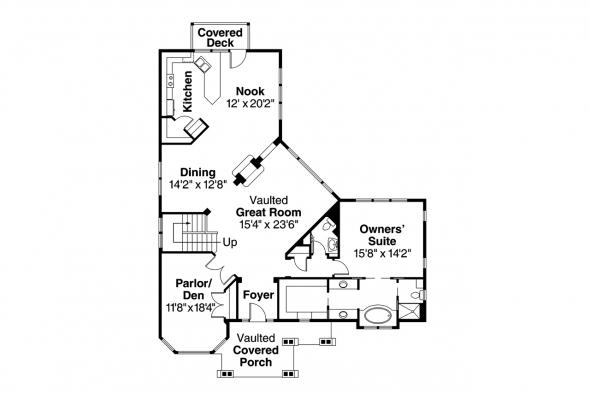 Craftsman House Plan - Keystone 30-597 - 1st Floor Plan