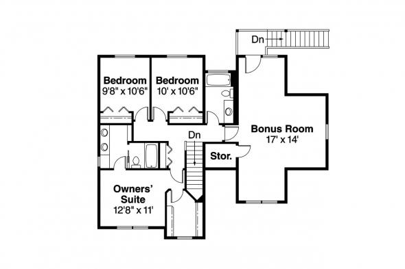 Craftsman House Plan - Mallory 30-576 - 2nd Floor Plan
