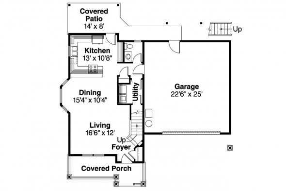 Craftsman House Plan - Mallory 30-576 - 1st Floor Plan