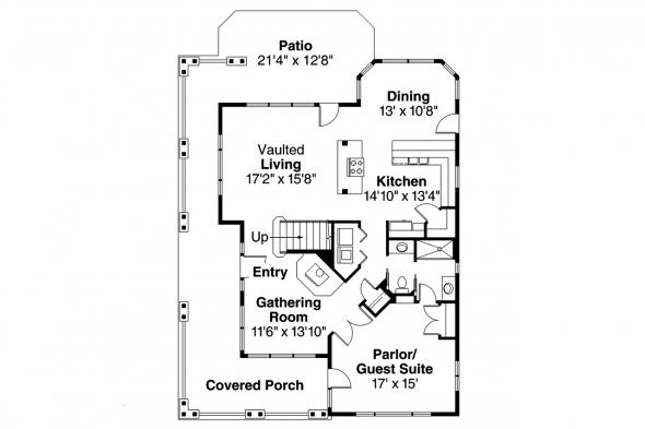 Craftsman House Plan - Mapleton 30-506 - 1st Floor Plan