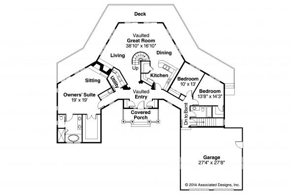 Craftsman House Plan - McCarren 10-509 - First Floor Plan