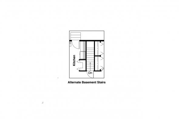 Craftsman House Plan - Pinewald 41-014 - Alternate Basement Option