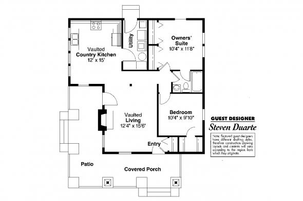 Craftsman House Plan - Pinewald 41-014 - Floor Plan