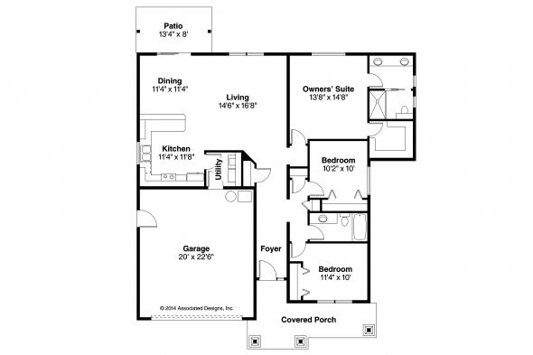 Craftsman House Plan - Ravenden 30-712 - Floor Plan