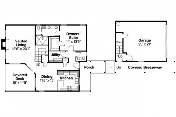 Craftsman House Plan - Roosevelt 30-603 - 1st Floor Plan