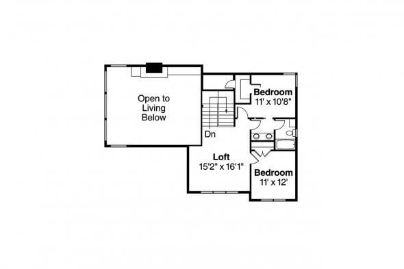 Craftsman House Plan - Stratford 30-615 - 2nd Floor Plan