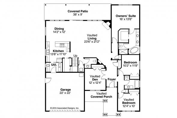Craftsman House Plan - Sutherlin 30-812 - Floor Plan