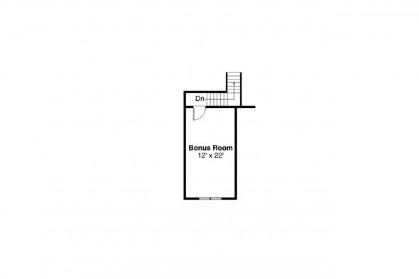 Craftsman House Plan - Sutherlin 30-812 - Bonus Room Floor Plan
