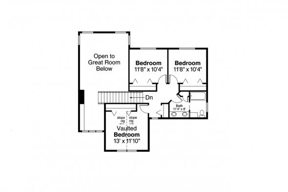 Craftsman House Plan - Tazewell 30-477 - 2nd Floor
