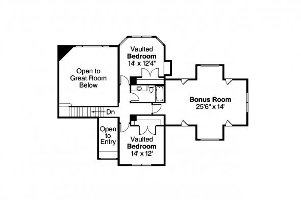 Craftsman House Plan - Tillamook 30-519 - 2nd Floor Plan