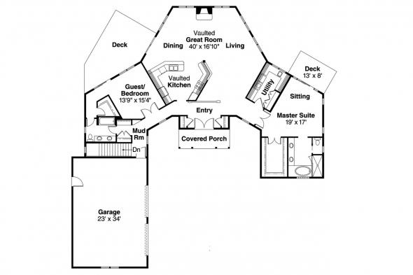 Craftsman House Plan - Treyburn 10-497 - Floor Plan