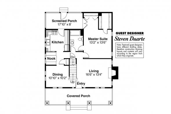 Craftsman House Plan - Tuckahoe 41-013 - 1st Floor Plan