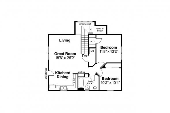 Duplex Plan - Tupelo 60-006 - 2nd Floor Plan