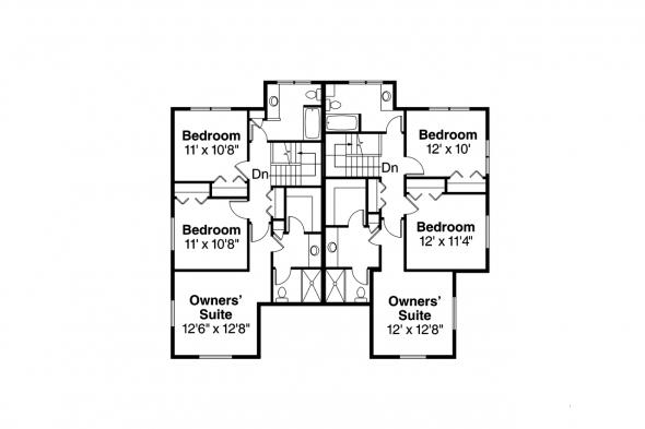 Duplex Plan - Hendrick 60-034 - 2nd Floor Plan