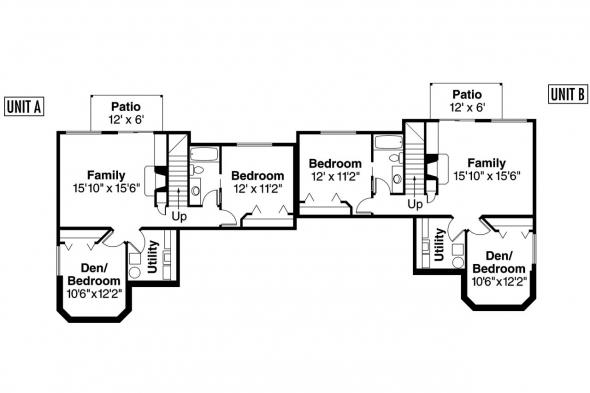 Duplex Plan - Kammer 60-022 - 2nd Floor Plan