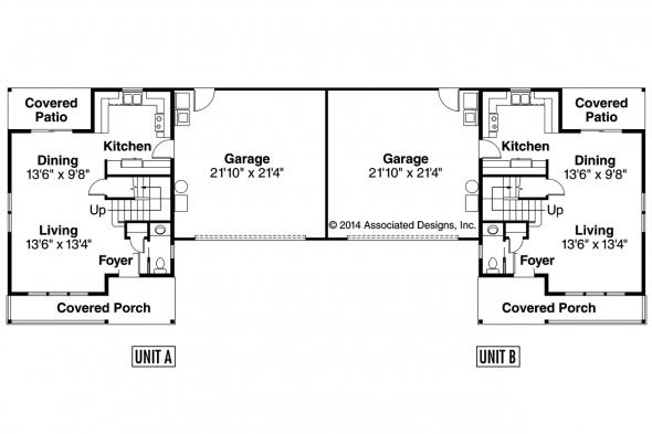 Duplex Plan - Kentland 60-015 - First Floor Plan