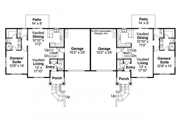 Duplex Plan - Lincolnshire 60-032 - 1st Floor Plan