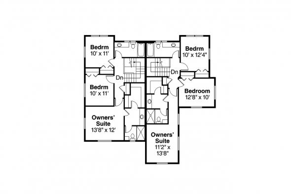 Duplex Plan - Parkridge 60-035 - Second Floor Plan