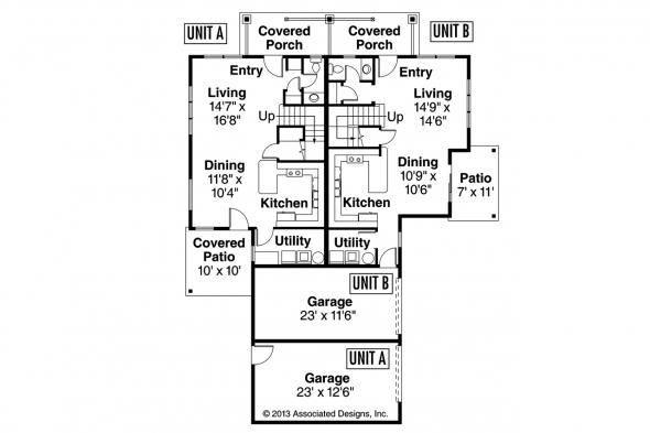 Duplex Plan - Parkridge 60-035 - First Floor Plan