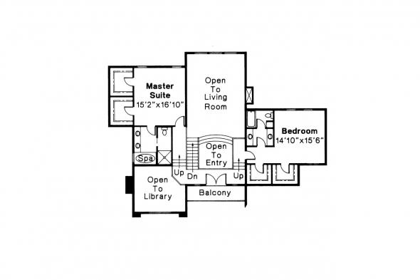 European House Plan - Ashton 10-065 - 2nd Floor Plan