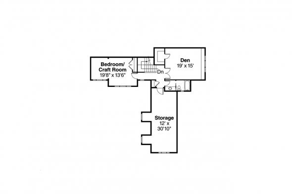 Euorpean House Plan - Canyonville 30-775 - 2nd Floor Plan